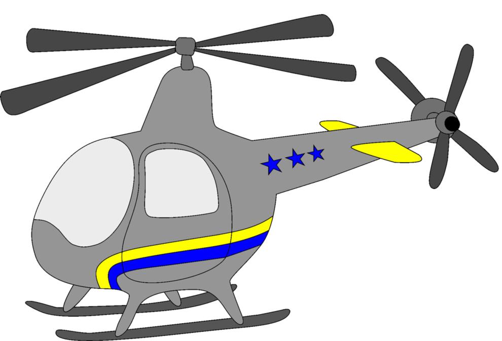 Disegno Di Piccolo Elicottero A Colori Per Bambini