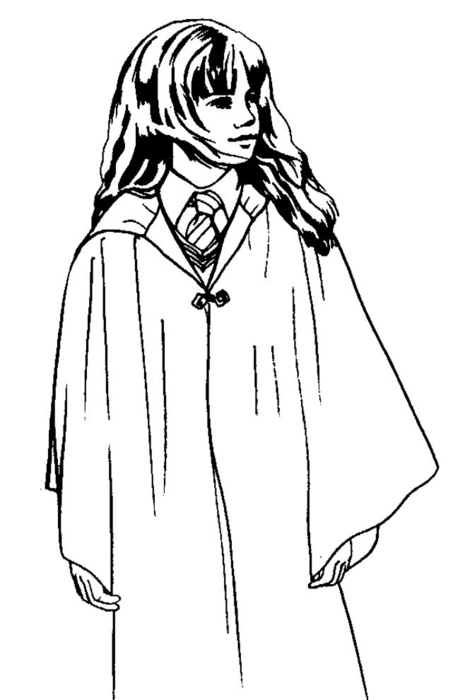 disegni da colorare harry potter hermione
