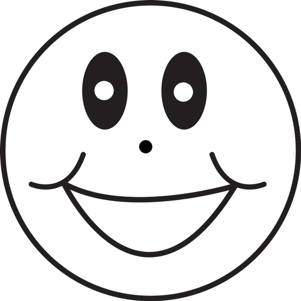 abbastanza Disegno di Emoticon Sorriso da colorare per bambini  TX35