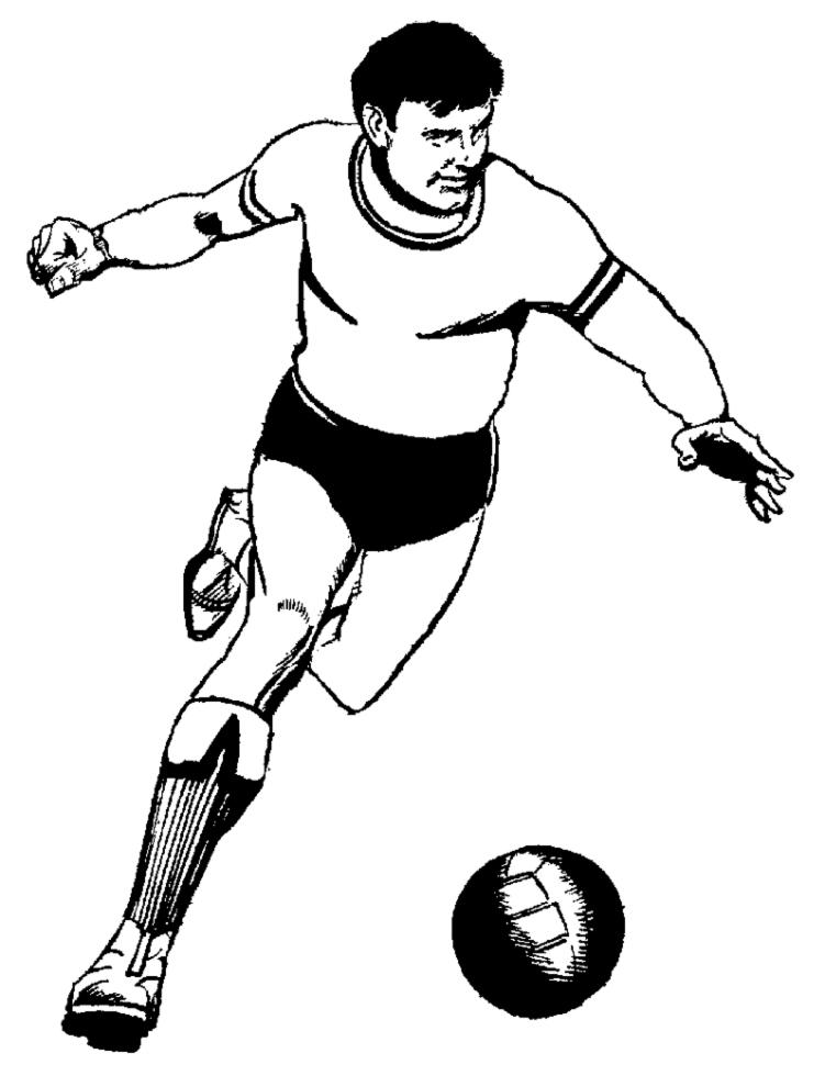 Disegno Di Pallone Da Calcio Da Colorare Per Bambini