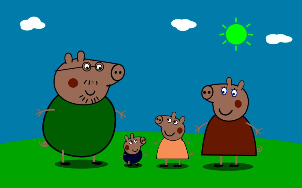 Favoloso Disegno di La Famiglia di Peppa Pig a colori per bambini  SH42