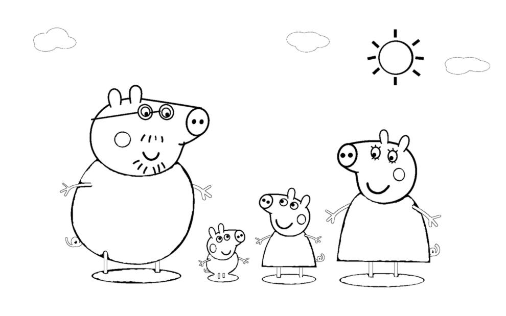 Disegni Da Colorare Gratis On Line Di Peppa Pig Fredrotgans