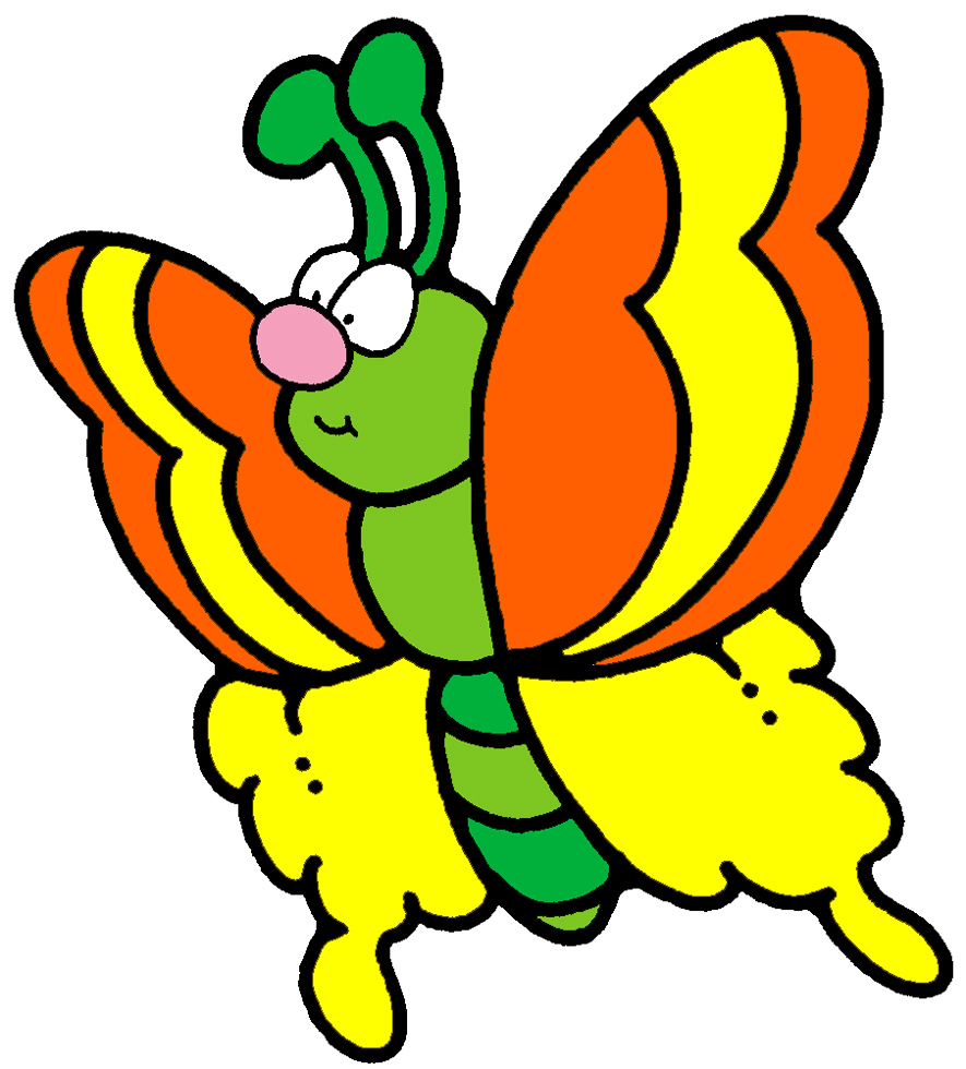Disegno Di Farfalla A Colori Per Bambini Disegnidacolorareonlinecom