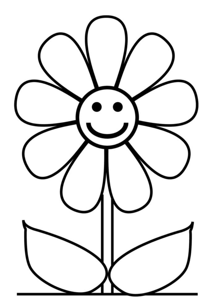 disegni da colorare fiori gratis