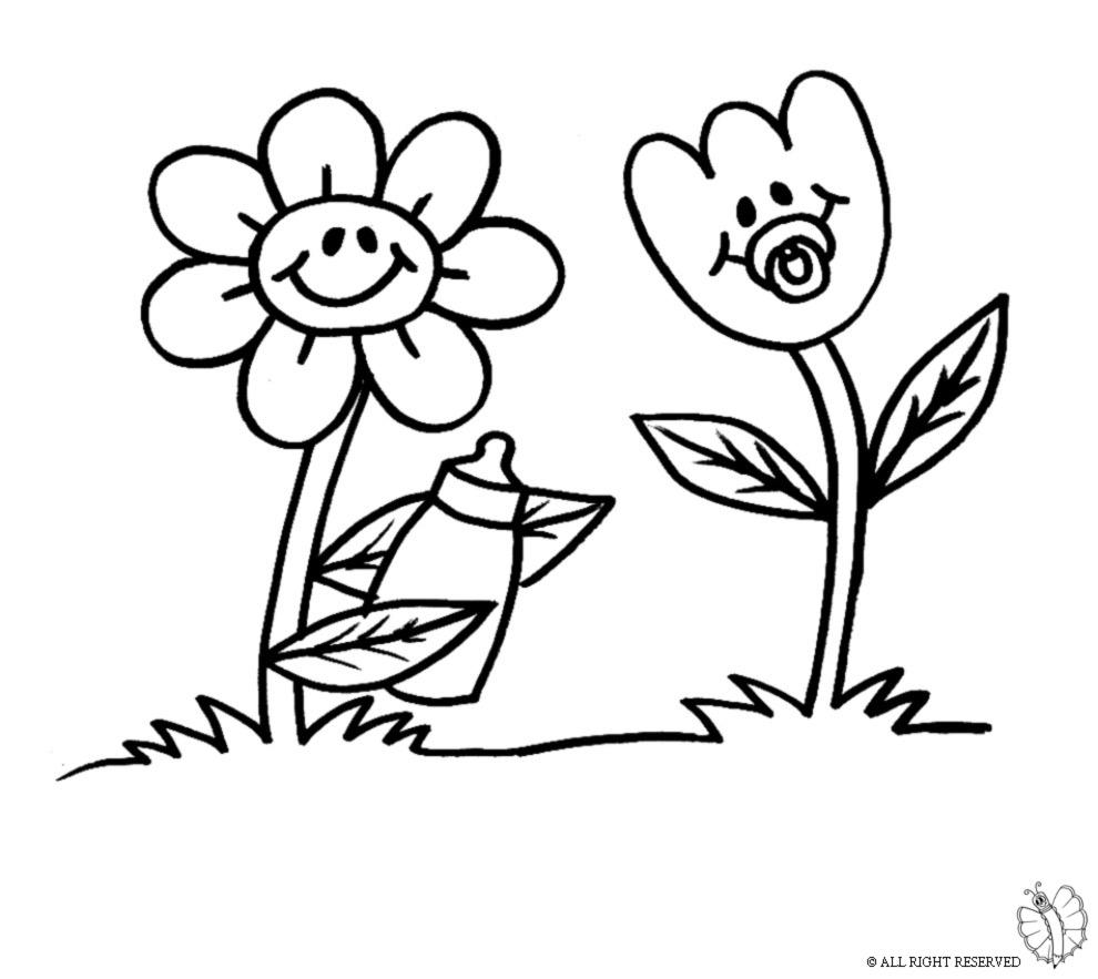 Disegni semplici di fiori ql94 regardsdefemmes - Cartone animato animali da colorare pagine ...