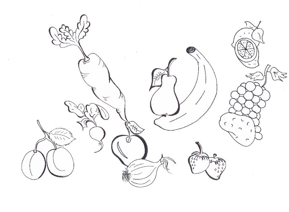 Disegni da colorare e stampare di ortaggi fare di una mosca for Comodini per bambini online