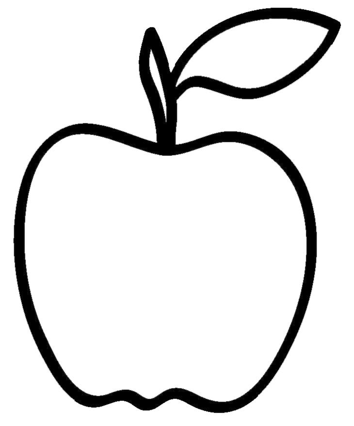 Favorito Disegno di Mela da colorare per bambini - disegnidacolorareonline.com AN45