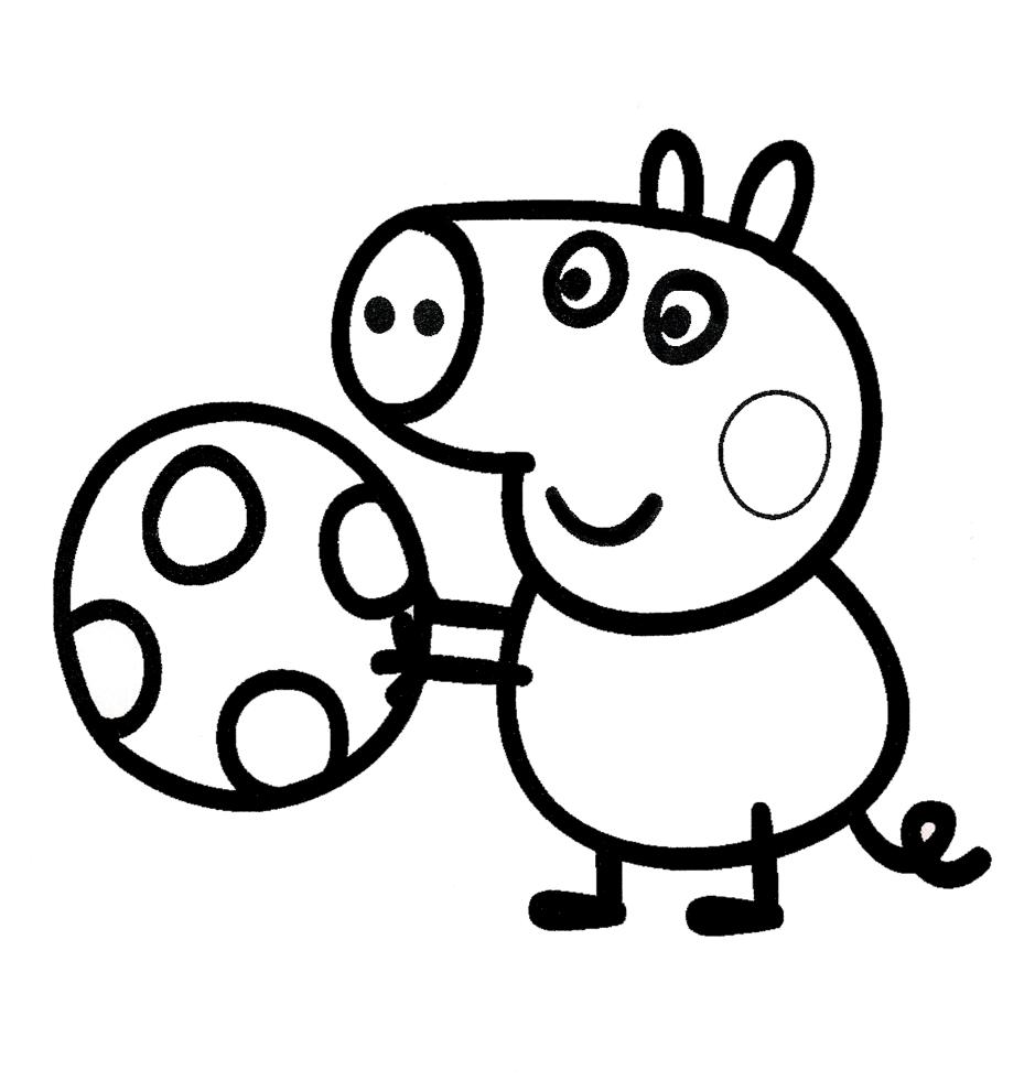 disegni da colorare e stampare gratis peppa pig