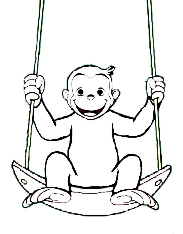Disegni da colorare gratis george timazighin - Scimmia faccia da colorare pagine da colorare ...