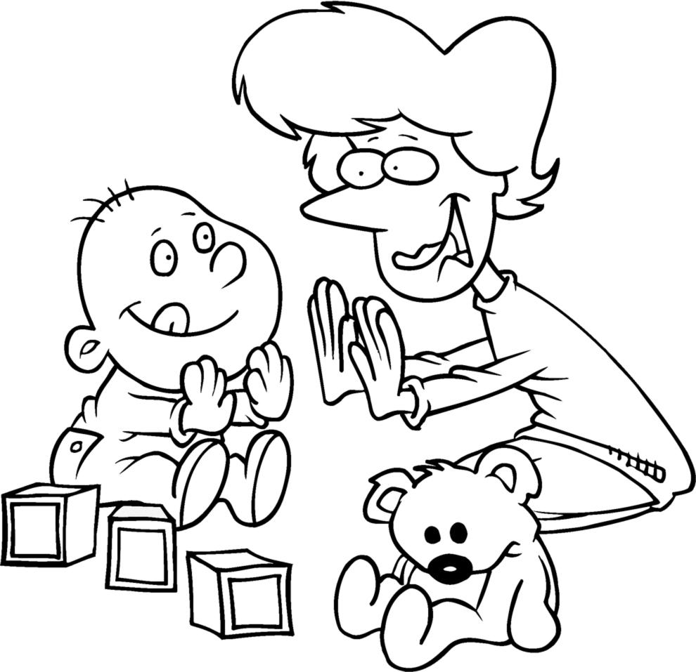 Disegno Di Giochi Per Bimbi Da Colorare Per Bambini