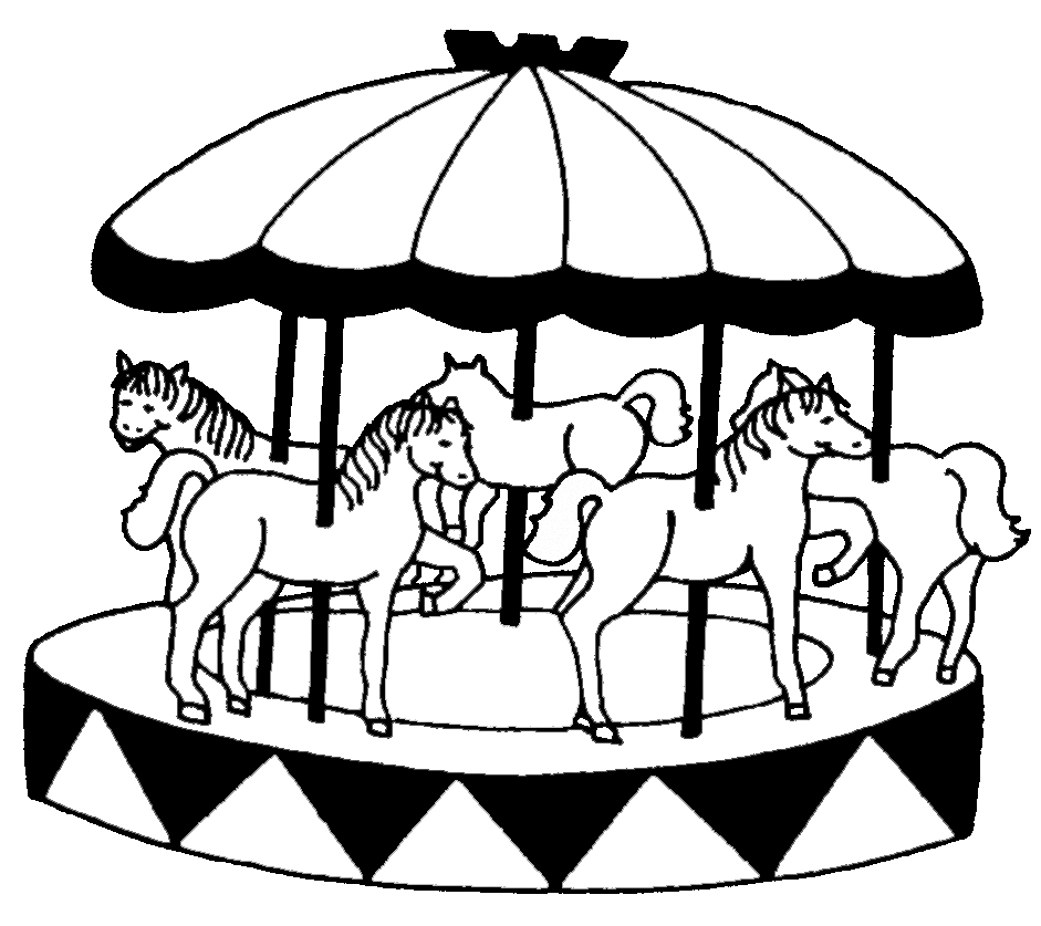 disegni da colorare per bambini con cavalli