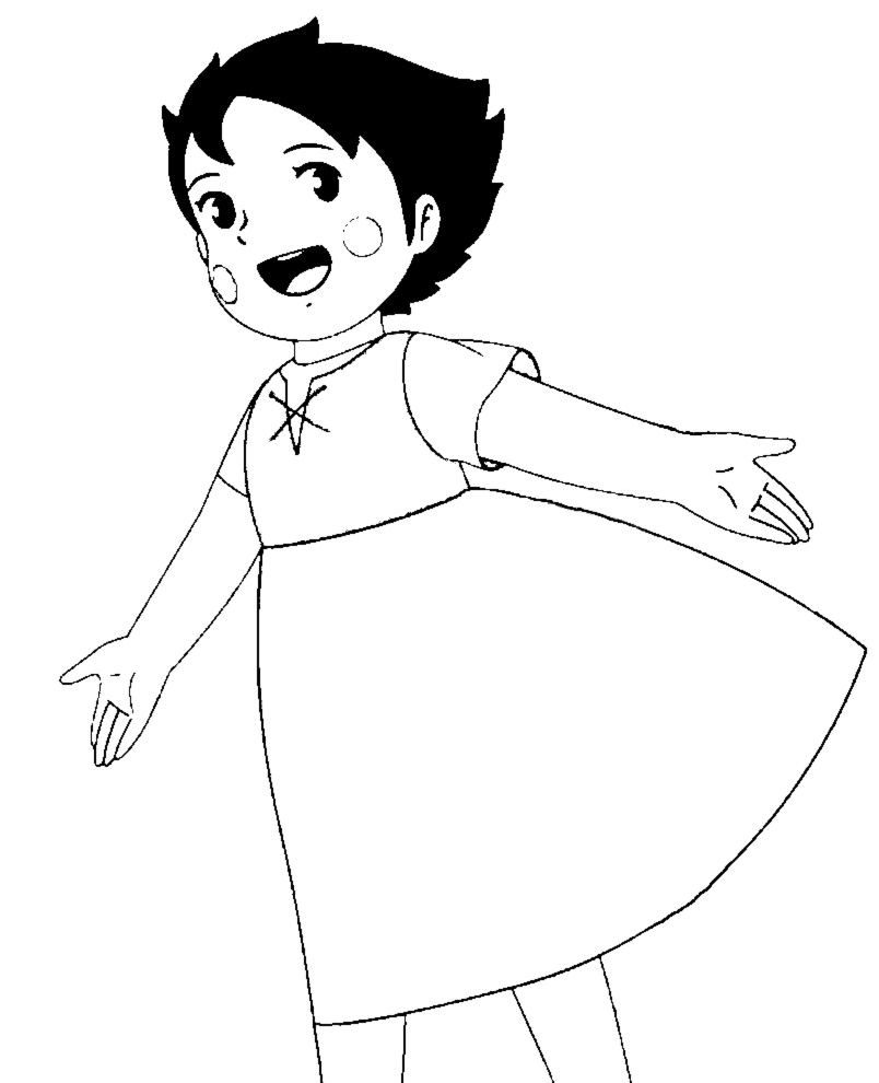 disegni da colorare per bambini di heidi