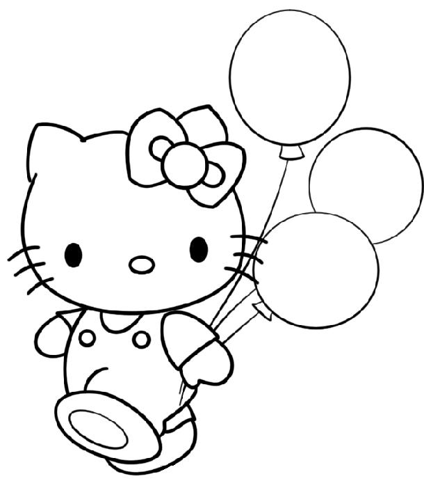 disegni da colorare e stampare gratis di hello kitty