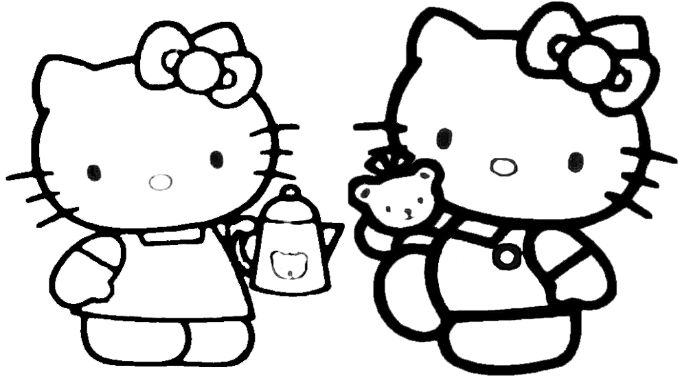 disegni da colorare con hello kitty