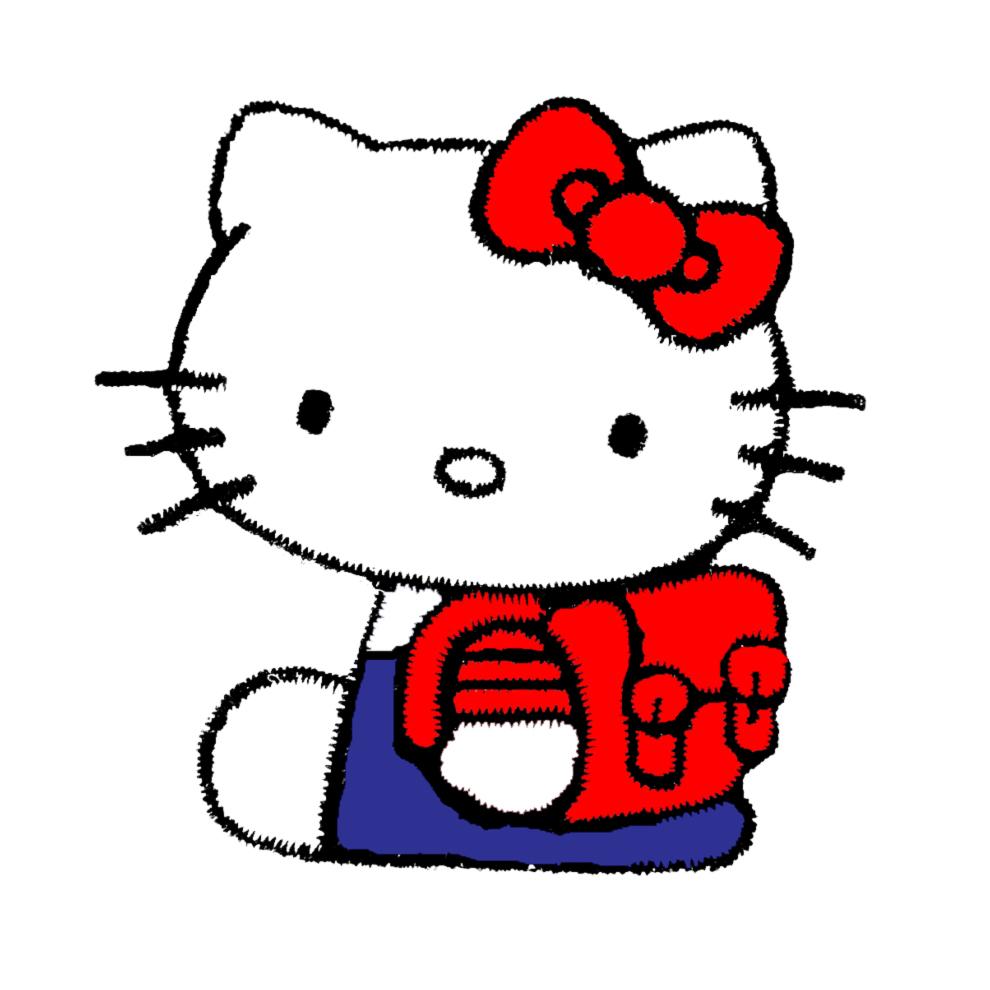 Top Disegno di Hello Kitty con Zainetto a colori per bambini  RX87