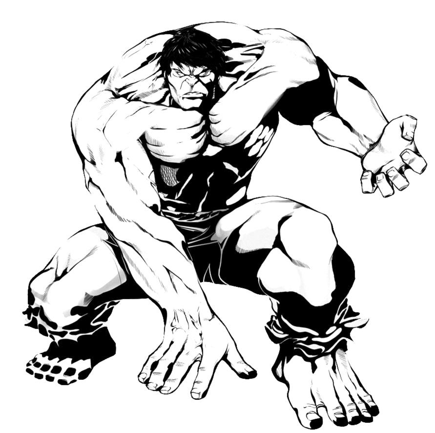 disegni da colorare dei hulk