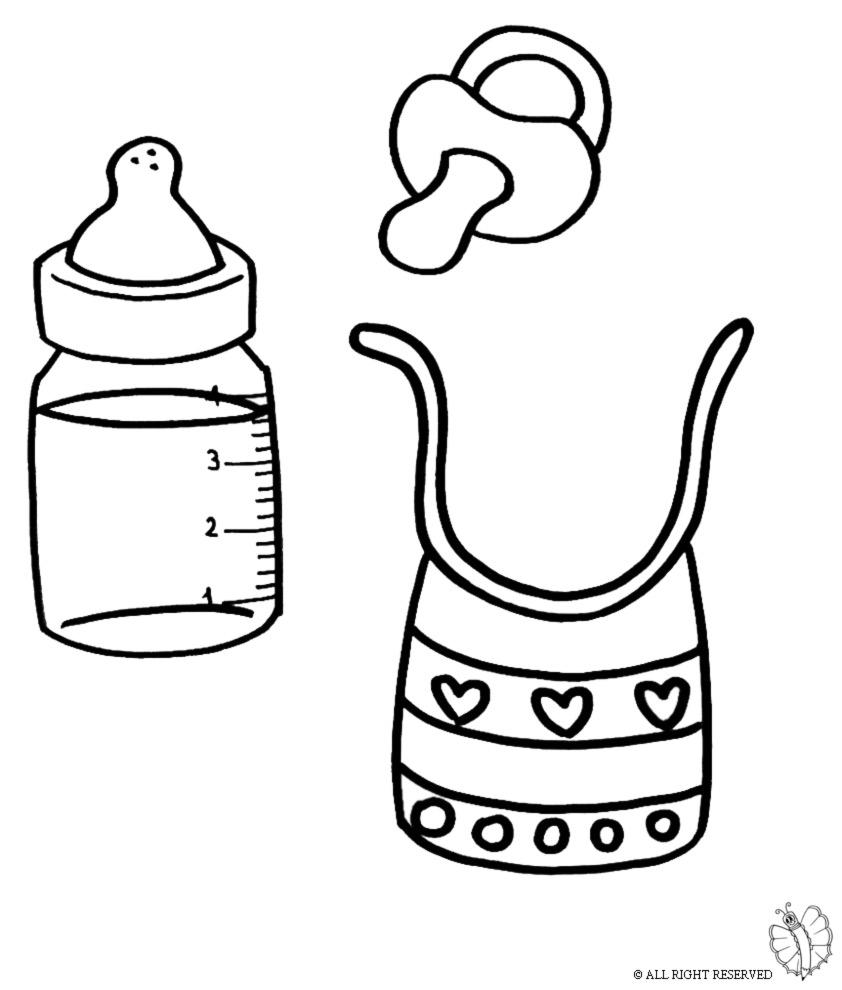 Eccezionale Disegno di Kit per Neonato da colorare per bambini  RP77