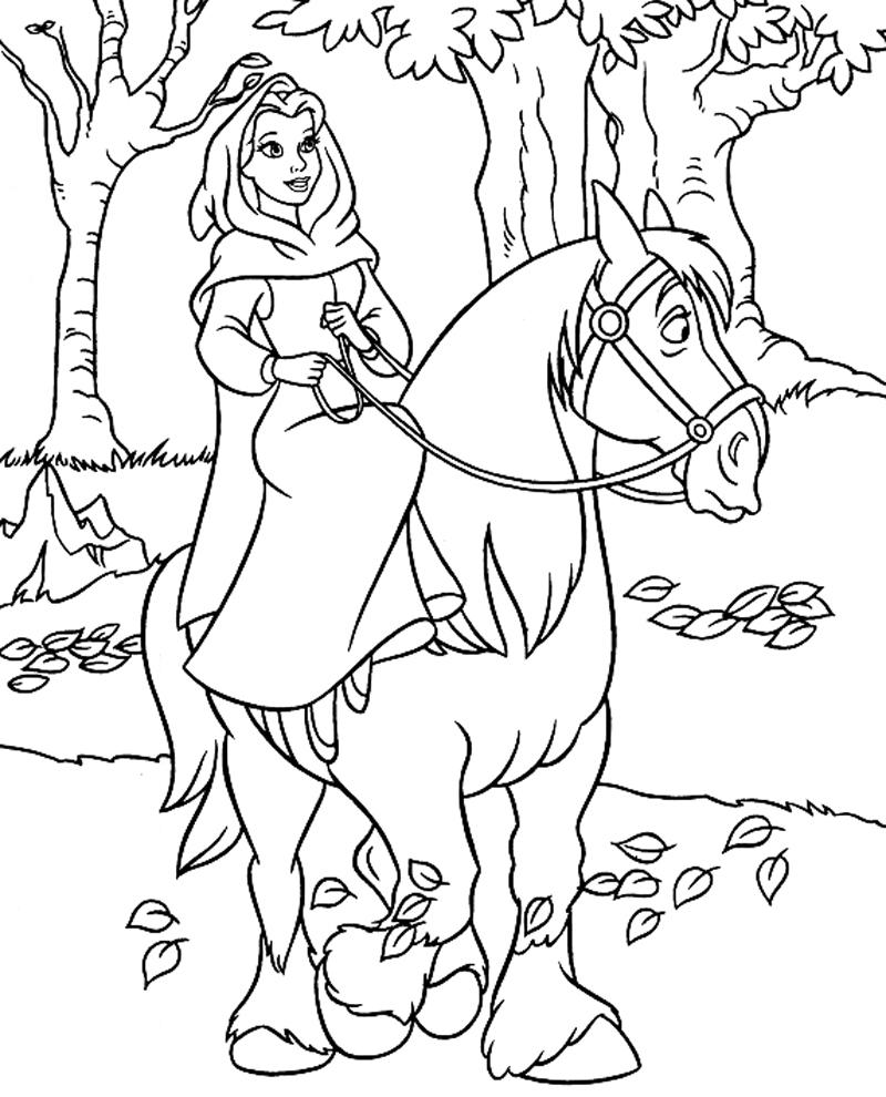 disegni da colorare con cavalli