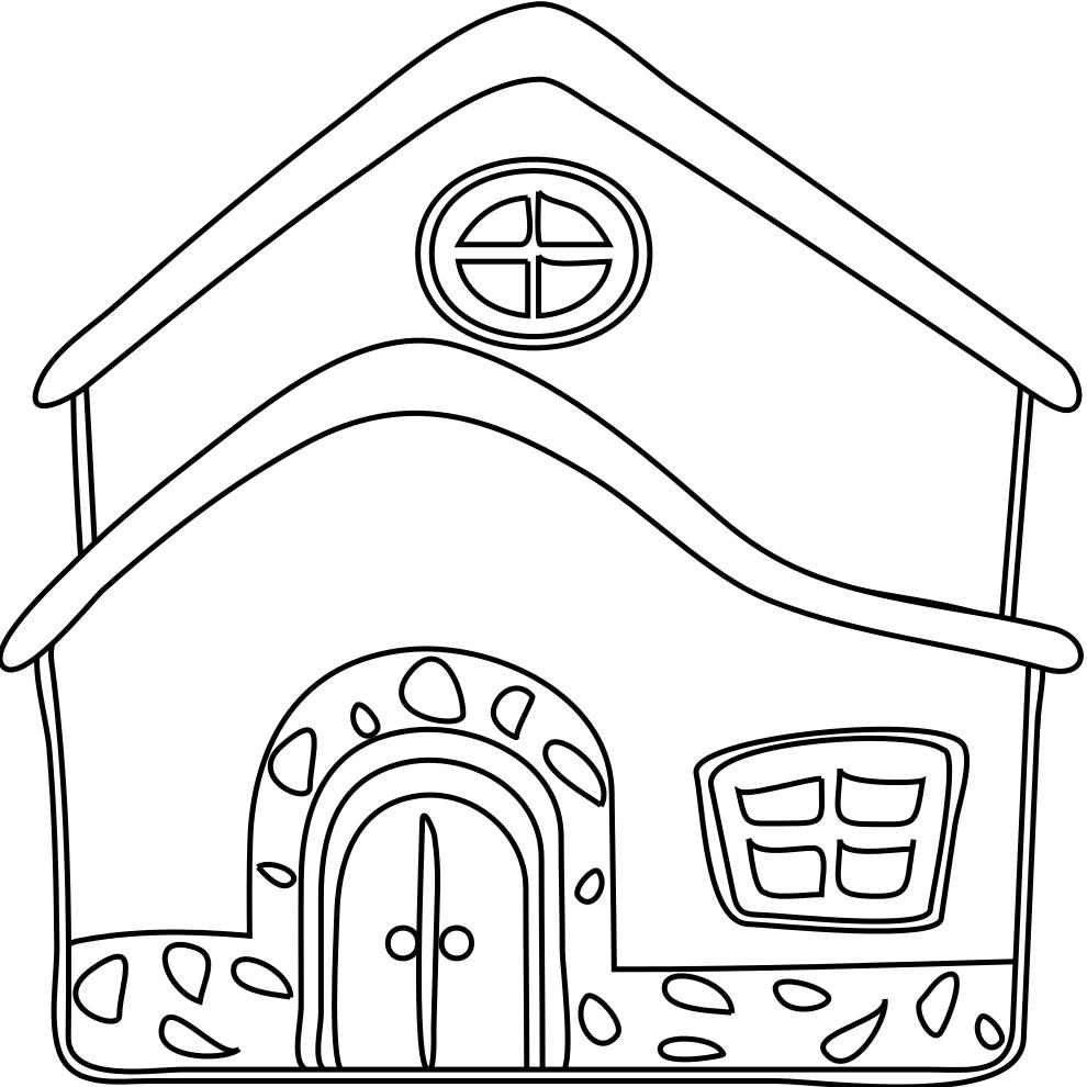 Fabuleux Disegno di La Casa da colorare per bambini  VB26