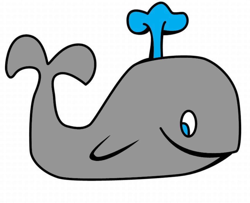 Disegno Di La Piccola Balena A Colori Per Bambini