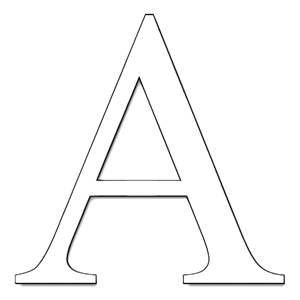 Lettere Alfabeto Da Copiare disegno di lettera a da colorare per bambini
