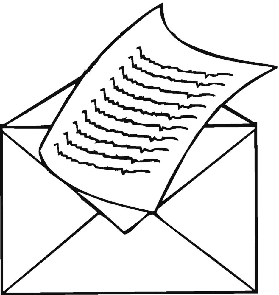 Conosciuto Disegno di Lettera da Spedire a colori per bambini  BC58