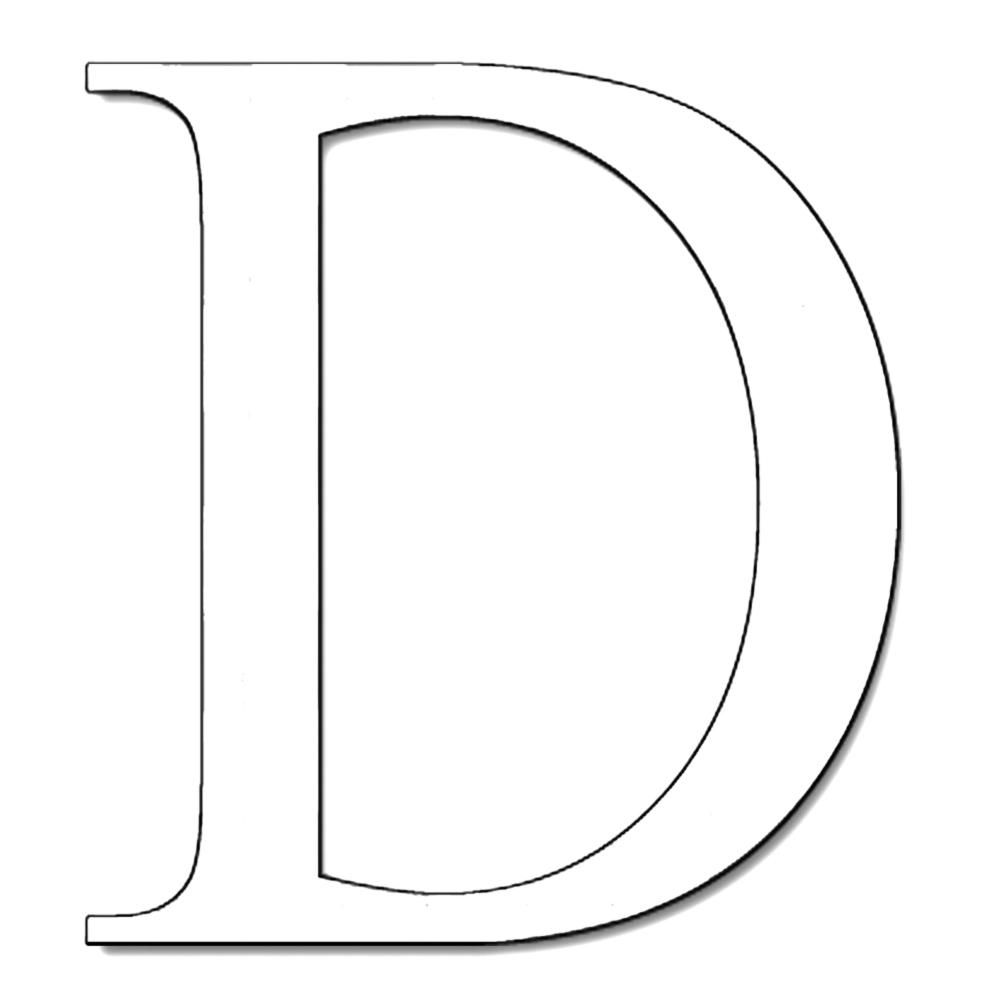 Lettere Alfabeto Da Copiare disegno di lettera d da colorare per bambini