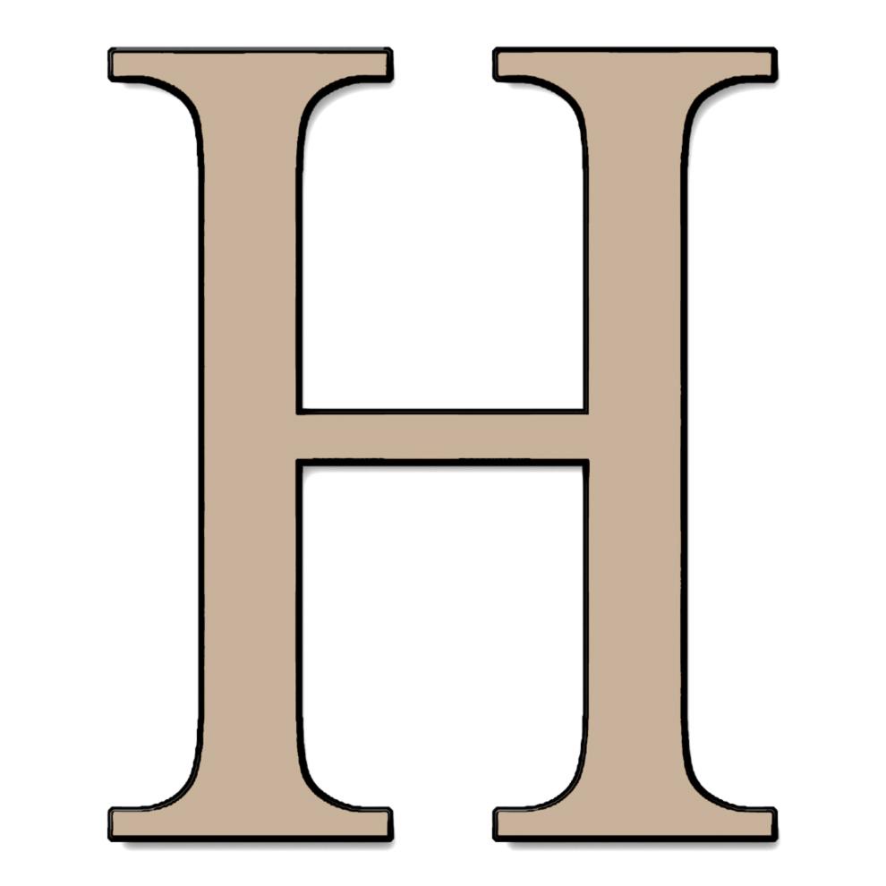 Amato Disegno di Lettera H a colori per bambini  TO22