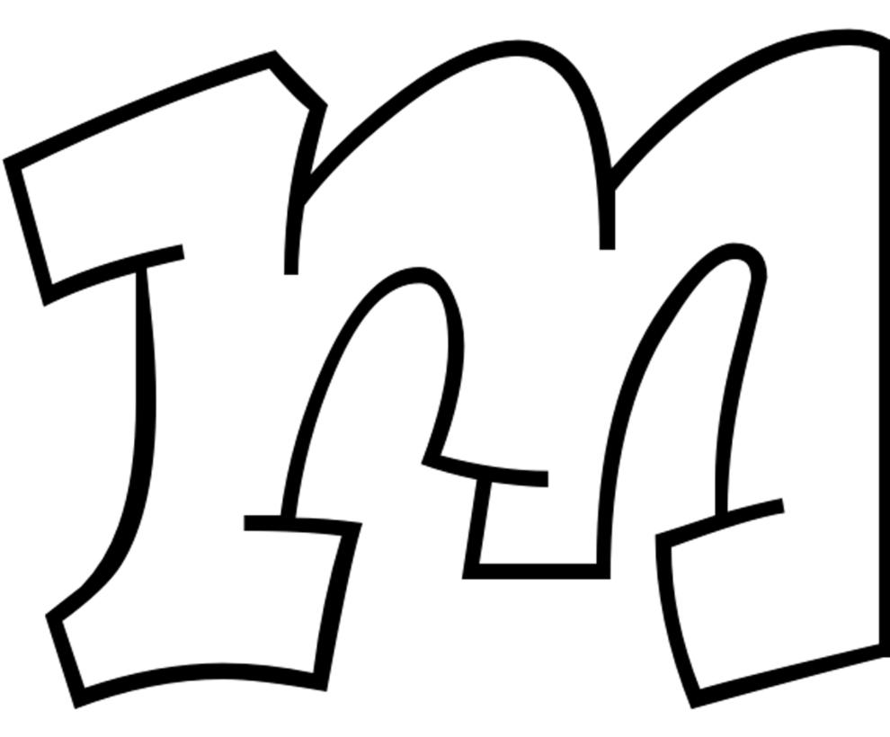Disegno Di Lettera M Da Colorare Per Bambini