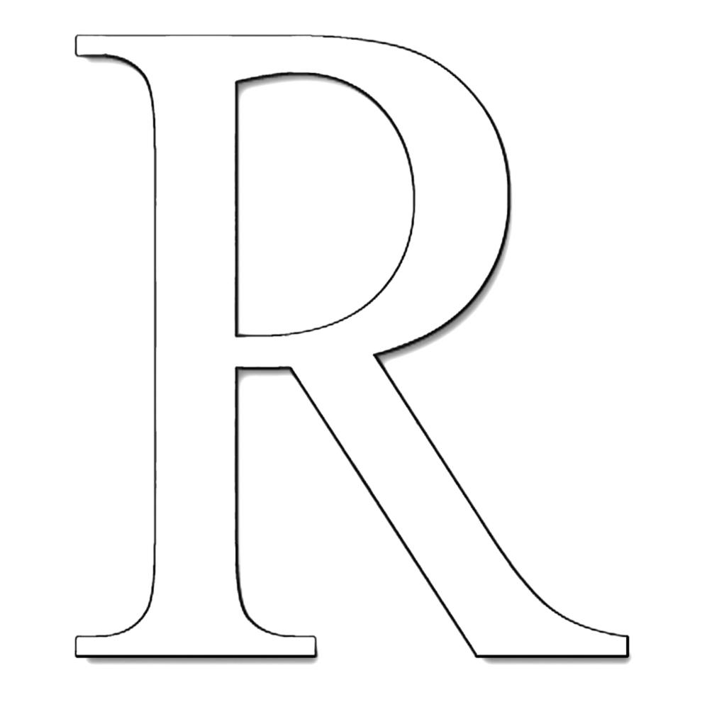 Lettere Alfabeto Da Copiare disegno di lettera r da colorare per bambini