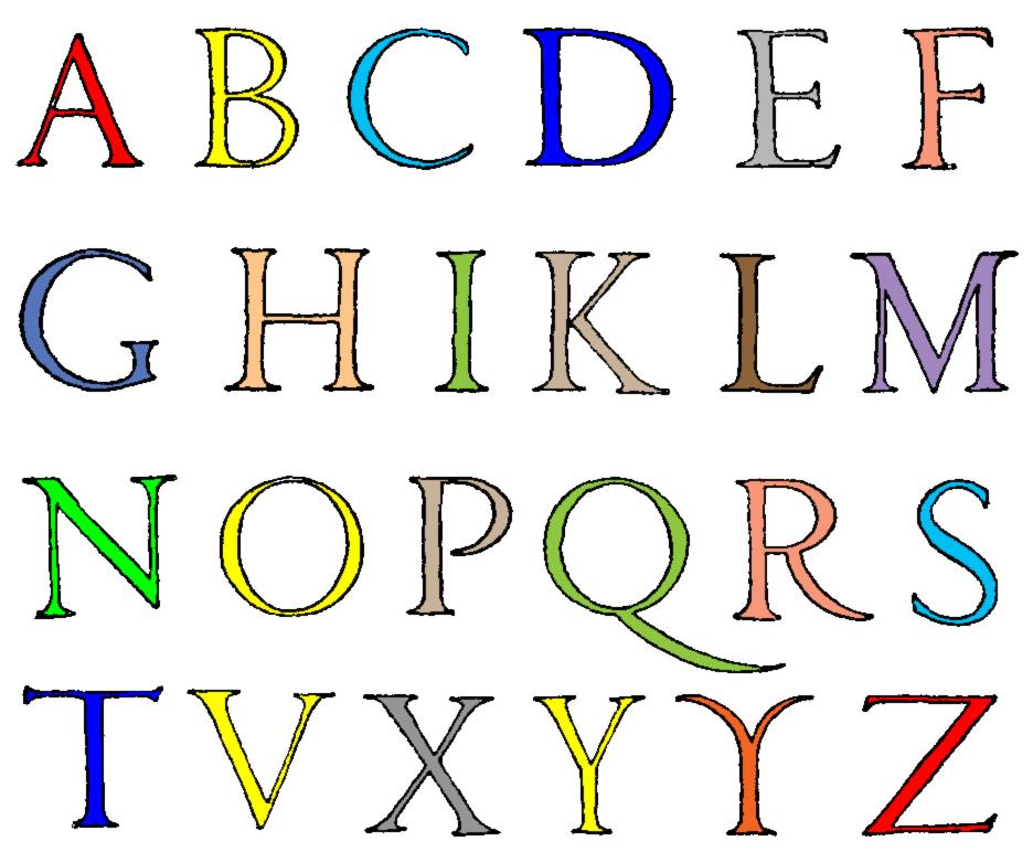 Disegno Di Lettere Alfabeto A Colori Per Bambini