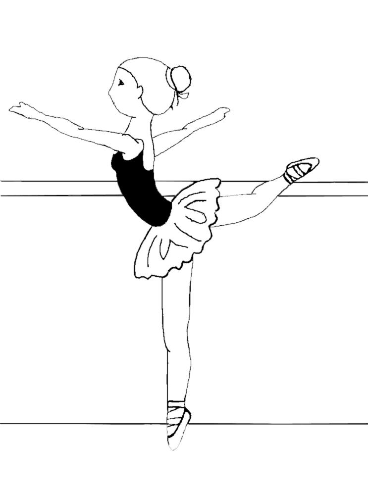 Disegno Di Ballerine Di Danza Classica Da Colorare Per Bambini