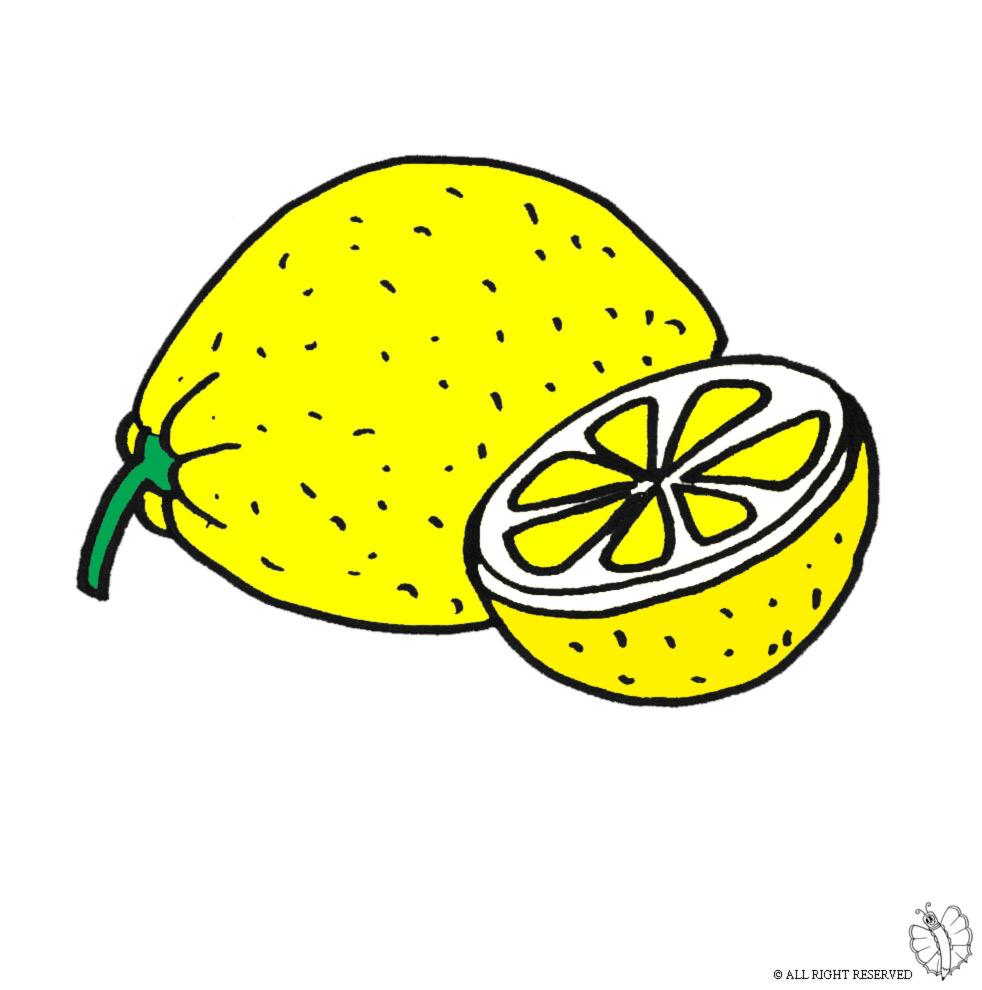 Disegno Di Limone A Colori Per Bambini Disegnidacolorareonline Com