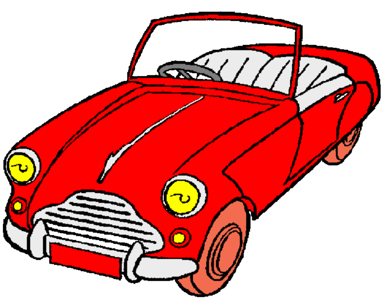 Disegno Di Macchina Cabrio A Colori Per Bambini