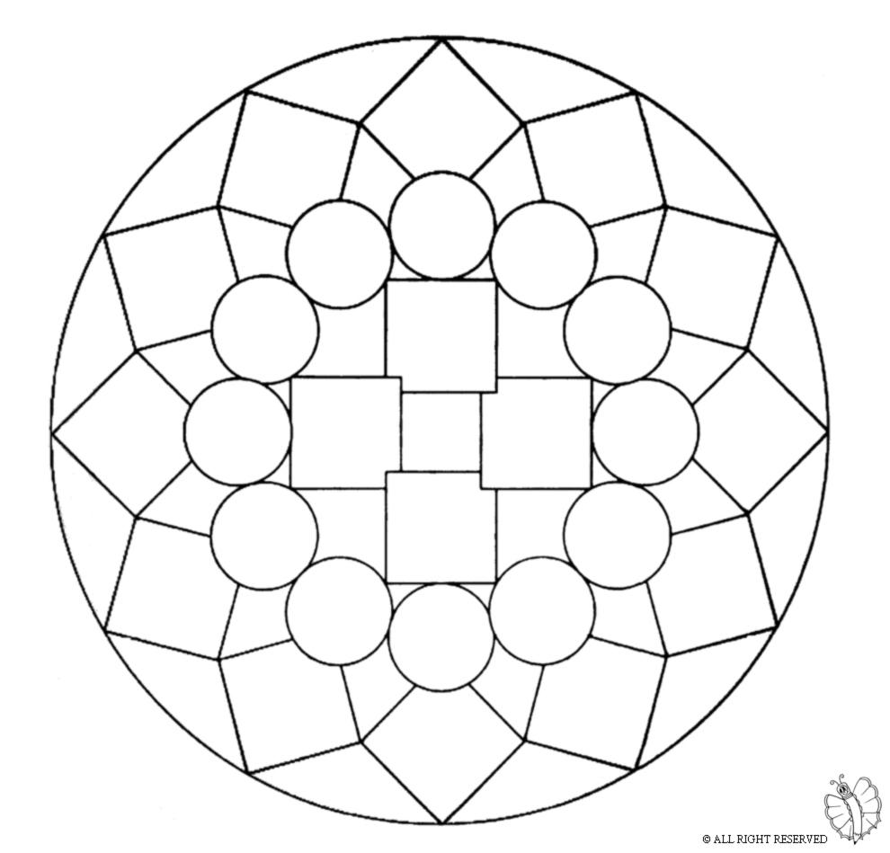 Disegno Di Mandala 1 Da Colorare Per Bambini