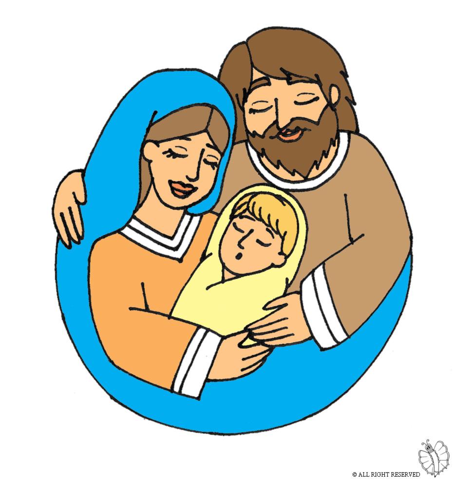 abbastanza Disegno di Santa Famiglia a colori per bambini  NV61