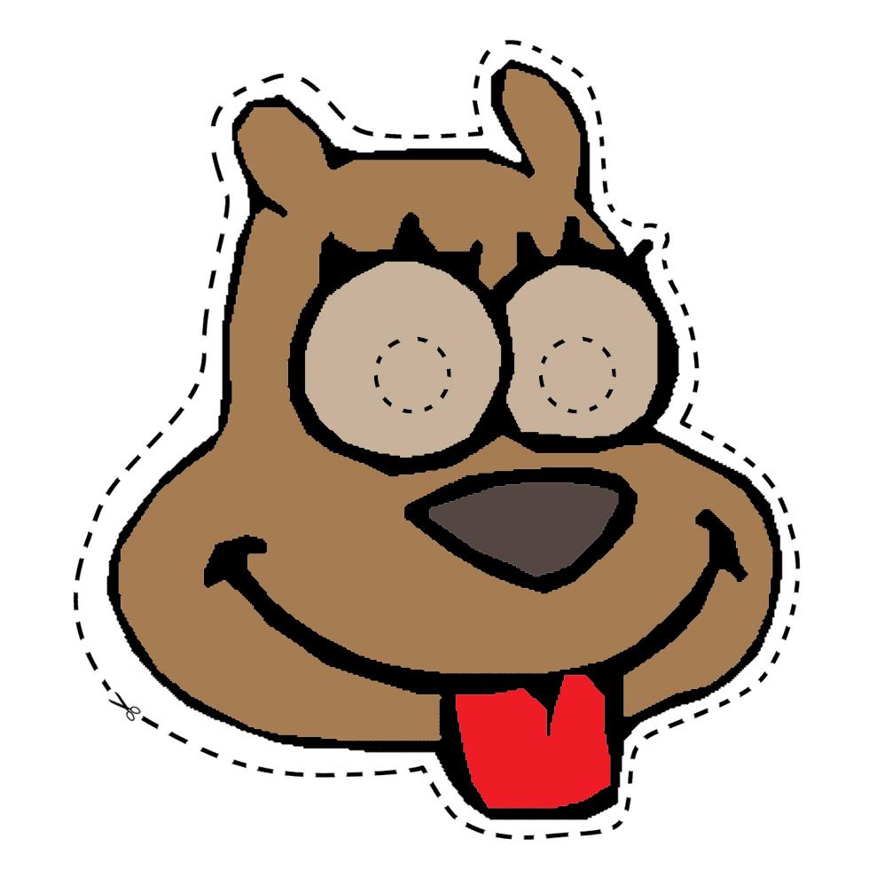 Disegno Di Maschera Di Cane Da Ritagliare A Colori Per Bambini