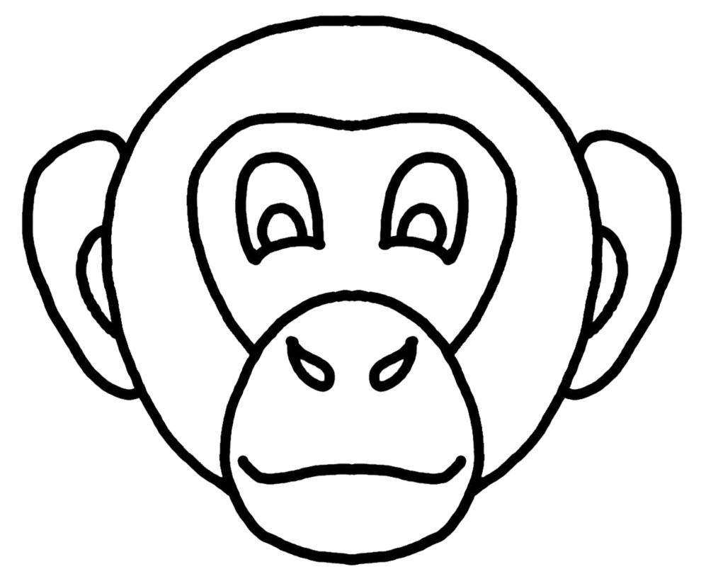 Disegno Di Maschera Di Scimmietta Da Colorare Per Bambini