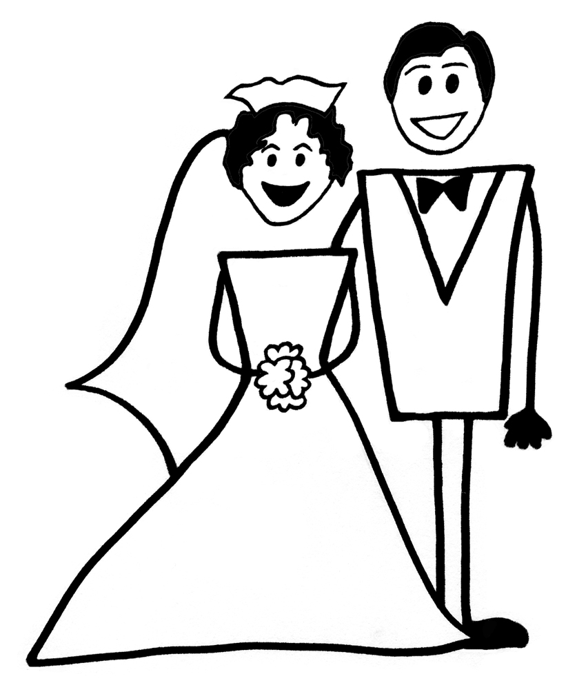 Bien-aimé Disegno di Matrimonio da colorare per bambini  TR91