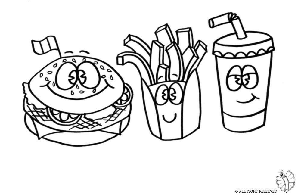 disegni da colorare hamburger