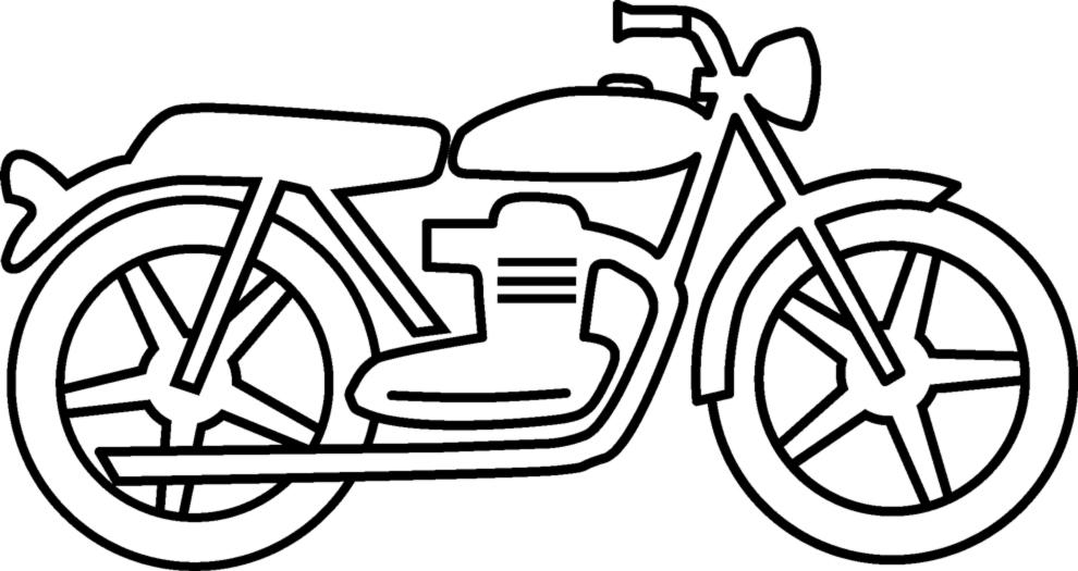 Disegno Di La Moto Da Colorare Per Bambini Disegnidacolorareonline Com
