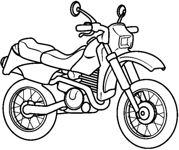disegni da colorare sul computer di moto