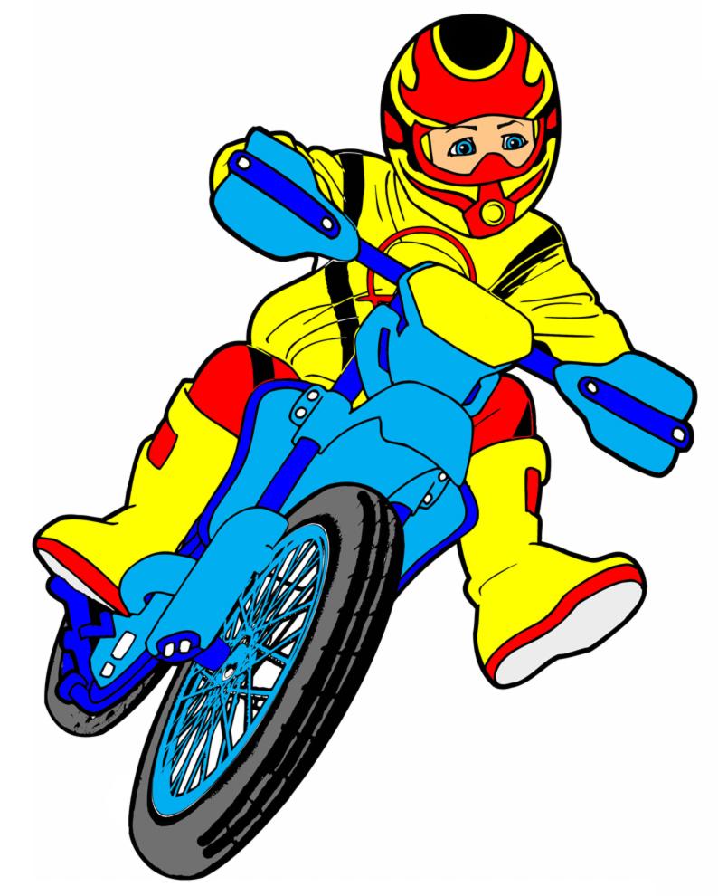 Disegno Di Motocross A Colori Per Bambini Disegnidacolorareonlinecom