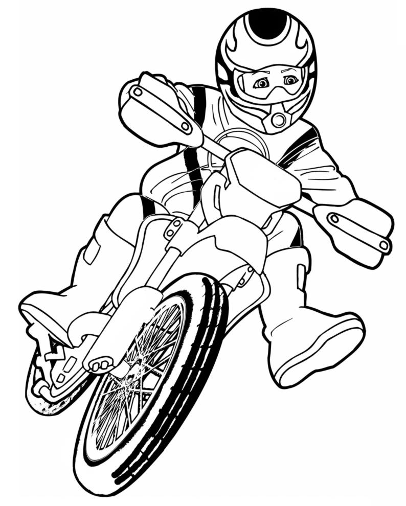 Disegno Di Motocross Da Colorare Per Bambini