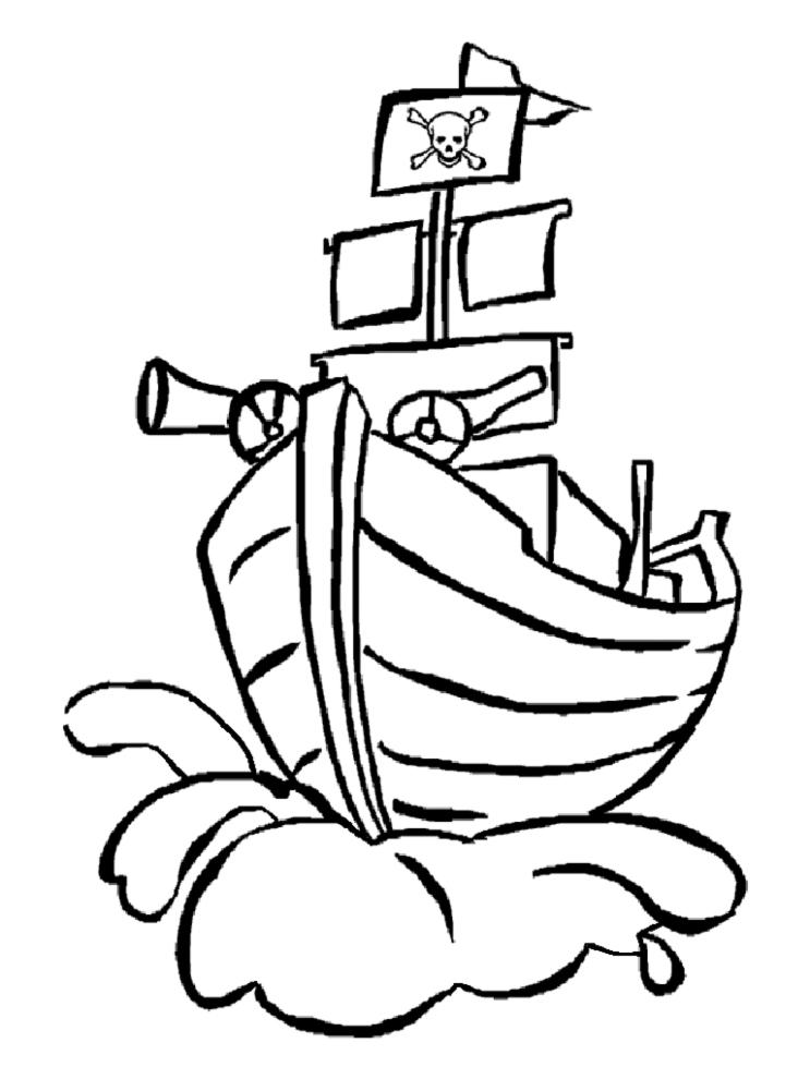 Disegno Di Nave Pirata Da Colorare Per Bambini