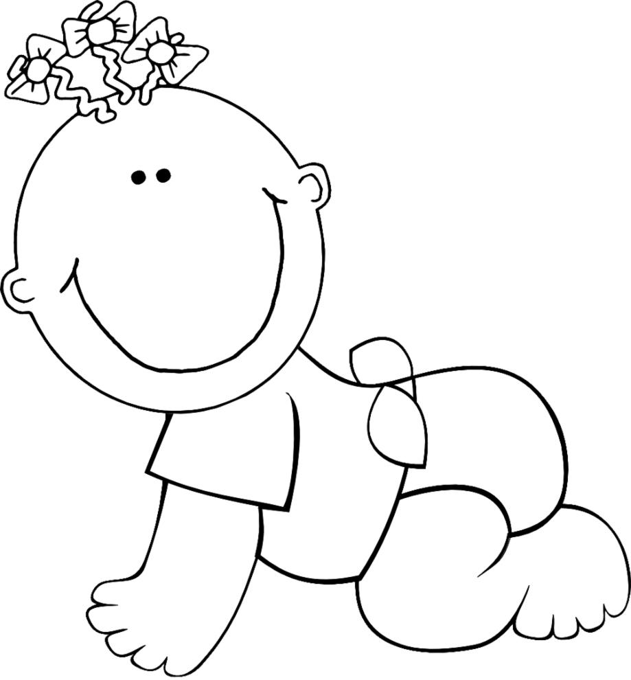 Disegno Di Neonato Da Colorare Per Bambini Disegnidacolorareonlinecom