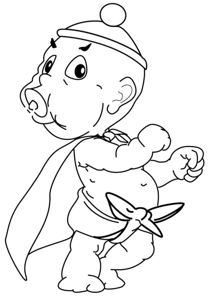 disegni da colorare e stampare di bambini piccoli
