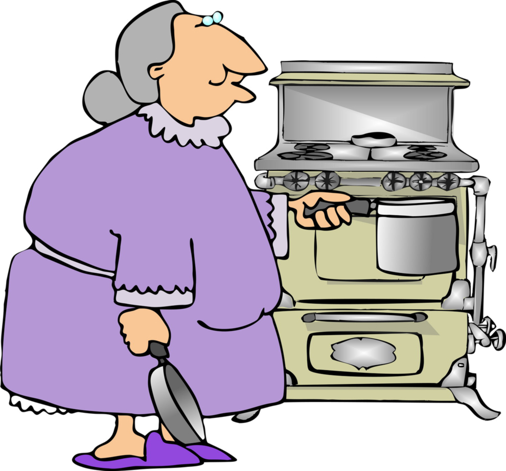 Disegno di Nonna in Cucina a colori per bambini ...