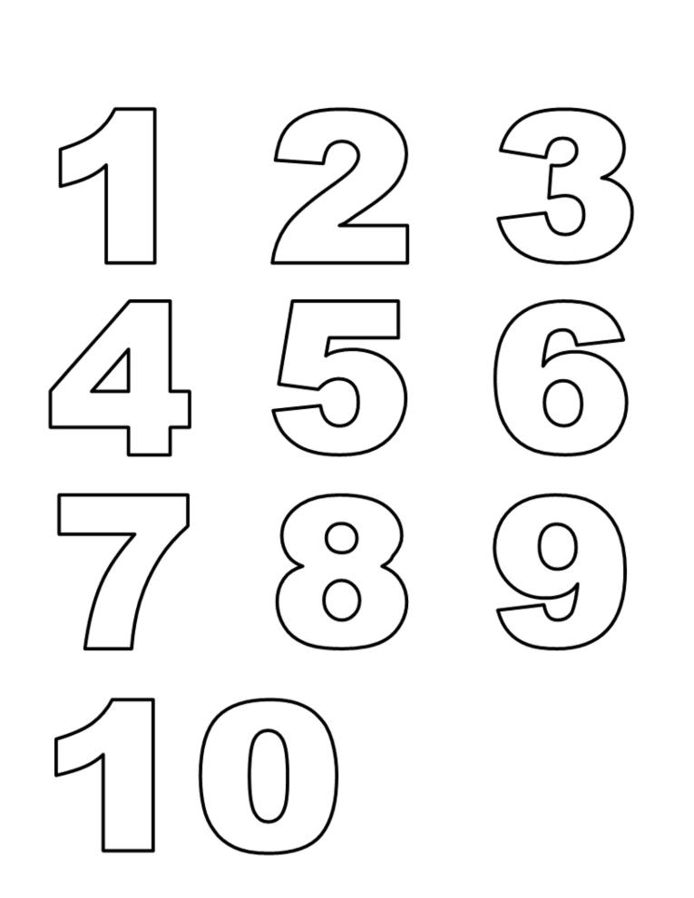 Disegni Da Colorare E Stampare Con I Numeri.Disegno Di Numeri Da Colorare Per Bambini Disegnidacolorareonline Com