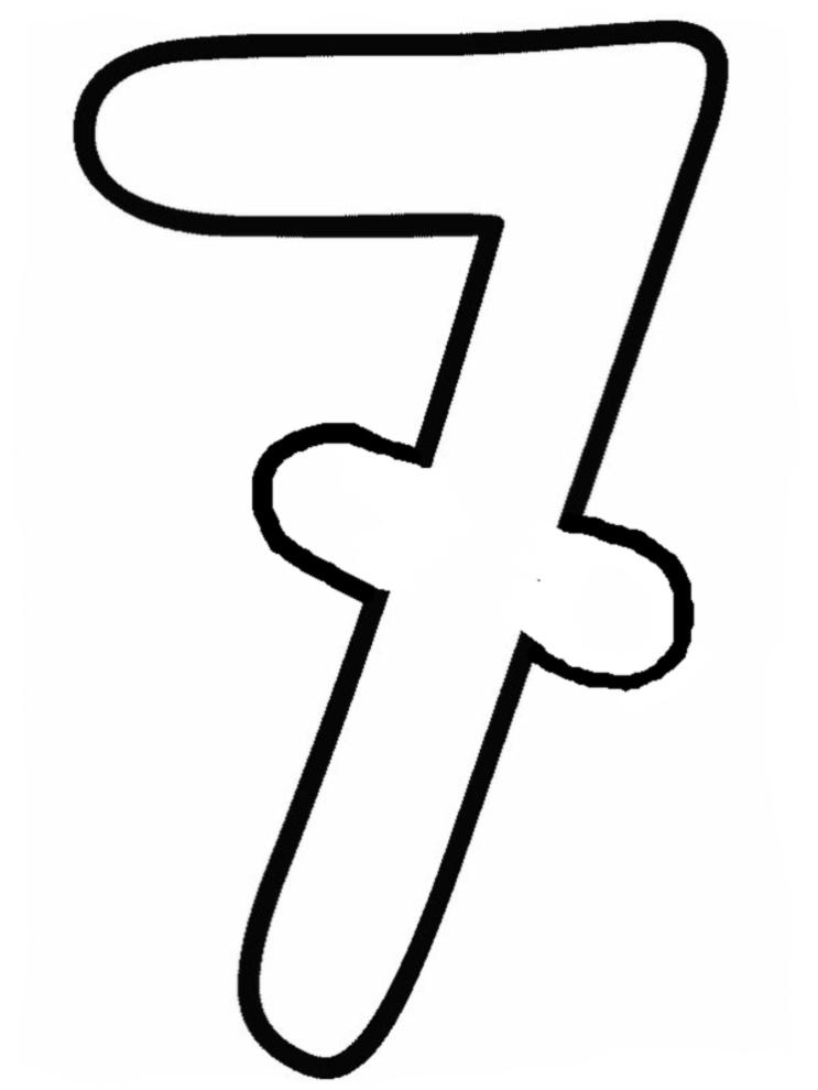Top Disegno di Numero Sette da colorare per bambini  SB19